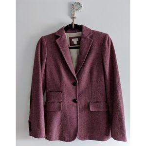 J. CREW Fully Lined Pink Wool Tweed Blazer